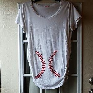 Tops - Maternity baseball shirt